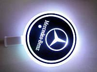 Подсветка подстаканника с логотипом Mersedes