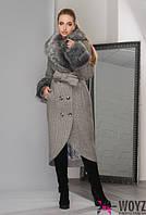 Удлиненное зимнее пальто, разные цвета 8758