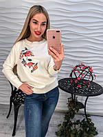 Женский свитерок с вышивкой