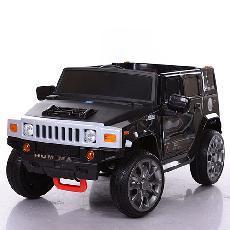 Детский электромобиль Hummer M 3581 EBR Черный, колеса EVA, амортизаторы, пульт Bluetooth