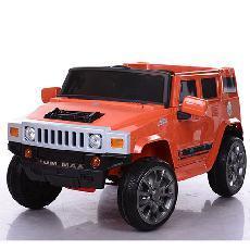 Детский электромобиль Hummer M 3581 EBR Оранжевый, колеса EVA, амортизаторы, пульт Bluetooth