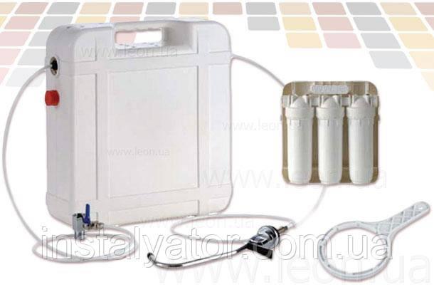 """Колба проточного фильтра Atlas Filtri BRAVO DP TRIO CASE 10"""", водоразборный кран + кран подключения"""