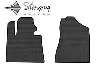 Kia sportage ql 2015- комплект из 2-х ковриков черный в салон.