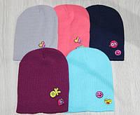 Подростковые вязаные  шапки для девочек