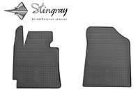 Kia cerato 2013- комплект из 2-х ковриков черный в салон.