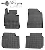 Kia cerato 2013- комплект из 4-х ковриков черный в салон.