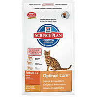 Hills Science Plan Feline Adult Optimal Care Chicken Сухой корм для кошек с курицей