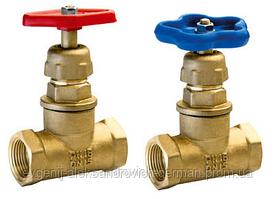 Клапан (вентиль) запірний 15б1п (15б3р) латунний муфтовий Ду15 Ру16