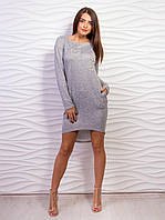 Платье с бусинами в виде жемчуга 2084