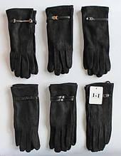 Интересные, модные, чёрные женские перчатки из экозамши