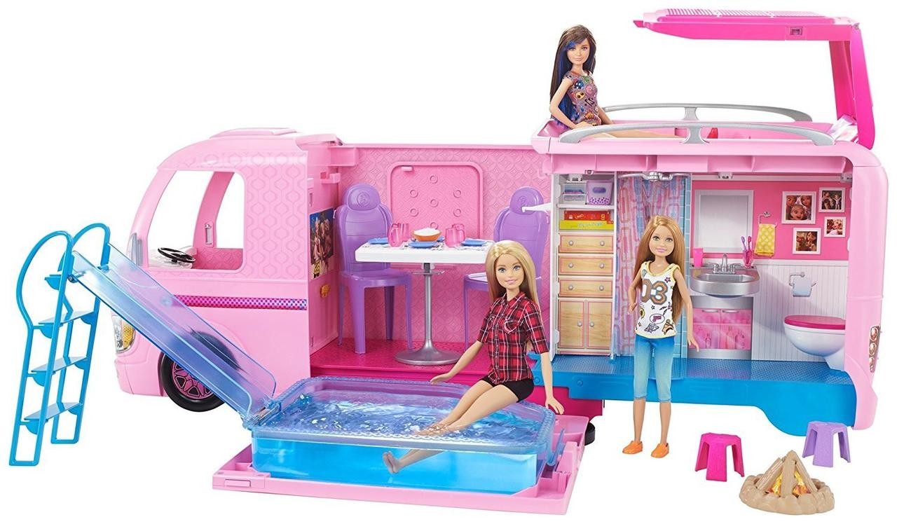 Барби Кемпер мечты Трейлер для путешествий с бассейном Barbie Dream Camper 2017