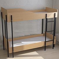 Ліжко двоярусне для гуртожитків (1990×890×1680h), фото 1
