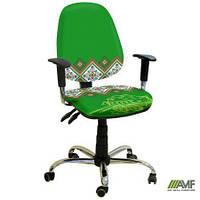 Эргономичное компьютерное кресло Бридж хром Украина №2 с механизмом Multi Fix для подростков и взрослых ТМ AMF 242180