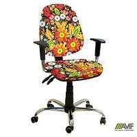 Эргономичное компьютерное кресло Бридж хром Украина №7 с механизмом Multi Fix для подростков и взрослых ТМ AMF 245350