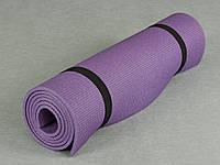 Коврик для йоги и гимнастики - Relax 3005 фиолетовый, размер  60 x 180 см., толщина 5мм