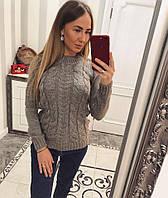 Вязаный свитер шерсть+акрил 1045 ЕЕ