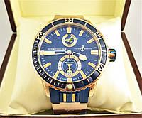 Часы Ulysse Nardin DIVER CHRONOMETER (Механика) Gold/Blue. Класс: AAA