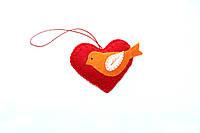 Красное сердце из фетра ручной работы, подарок на День Св. Валентина, валентинка