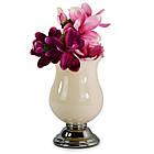 Керамическая ваза 300мм на серебряной ножке Anlux