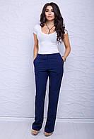 """Женские брюки """"Фрейзи"""" (т.синий), фото 1"""