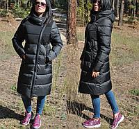 Зимние куртки на тинсулейте, модель-косуха. В наличии в черном цвете