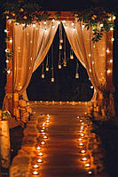 Свадебная деревянная арка в стиле Рустик, Бохо одинарная