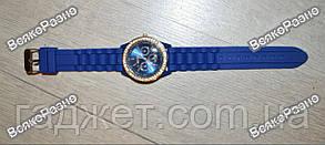 Женские часы Geneva со стразами синего цвета. Женские часы., фото 3