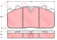 Дисковые тормозные колодки, комплект  TRW  GDB5069