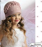 Нарядная весенняя шапка для девочки Жасмина