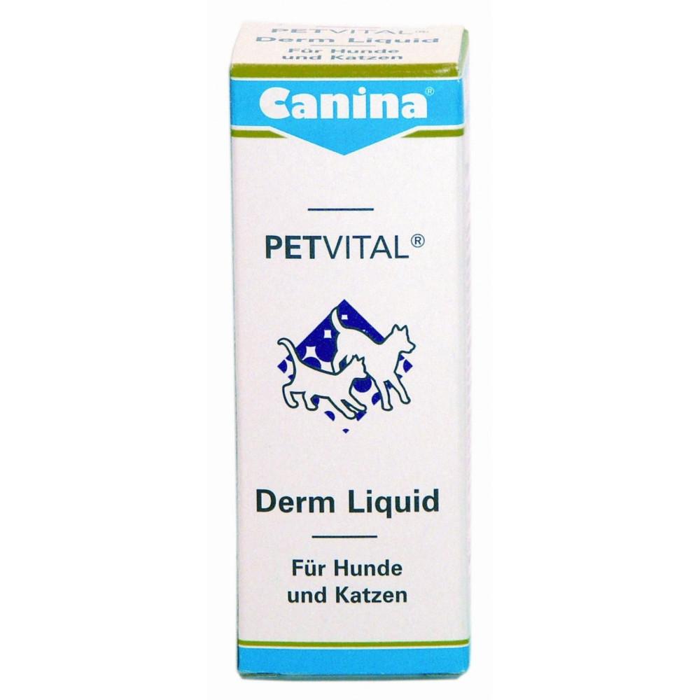 Canina (Канина) Petvital Derm Liquid Петвиталь Дерм-Ликвид - тоник для проблемной кожи и шерсти 25 мл