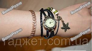 Женские наручные часы браслет черного цвета., фото 2