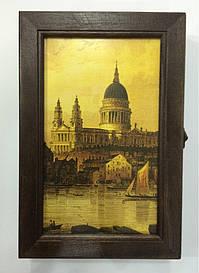 """Ключниця настінна, дерев'яна - """"Венеція"""" 60278"""