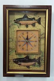 """Ключниця настінна, дерев'яна - """"Годинник"""" 3020 E"""