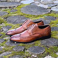 Итальянские мужские кожаные туфли броги 41 размер