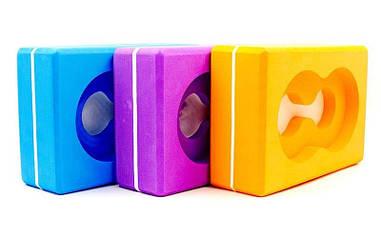 Йога-блок с отверстием FI-5163
