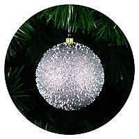 "Шар на елку ""Снегопад"" 80мм (серебряный), фото 1"