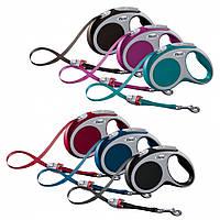 FLEXI (Флекси) VARIO M 5м/60кг, лента - поводок-рулетка для собак (цвет в ассортименте)