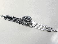 Ручка кнопка современная классика на подкладке MONE CLASSIC A2-220-35 CHROME глянцевый хром, фото 1