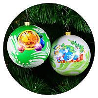 """Новогодний елочный шар """"Деколь"""" 100мм, фото 1"""