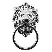 """Ручка кольцо классическая """"Голова льва"""" KM26027-190-36 CHROME хром глянцевый, фото 1"""