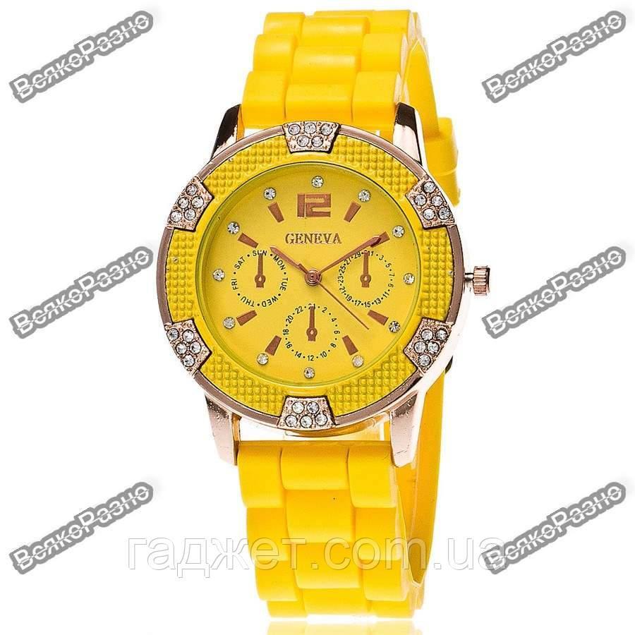 Часы Geneva Michael Kors Crystal желтые. Женские часы.