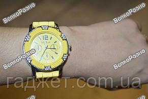Часы Geneva Michael Kors Crystal желтые. Женские часы., фото 3