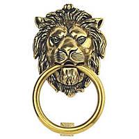 """Ручка кольцо классическая """"Голова льва"""" KM26027-190-07 ANTIK античное золото"""