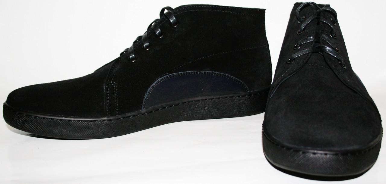 Осенние ботинки мужские черные Ikoc