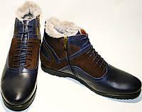 Мужские зимние ботинки на натуральном меху классические Luciano Bellini , фото 1