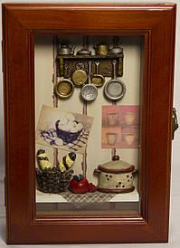 """Ключниця настінна, дерев'яна -""""Кухня"""" 59170 F"""