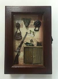 """Ключниця настінна, дерев'яна -""""Вовк"""" 58206 D"""