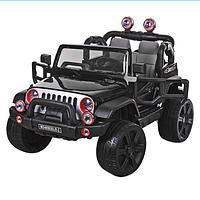 Электромобиль детский двухместный джип M 3469 EBLR-2 черный