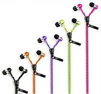 Zipper на молнии наушники с микрофоном молния
