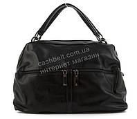 Вместительная женская стильная сумка саквояж art. 89972 черная